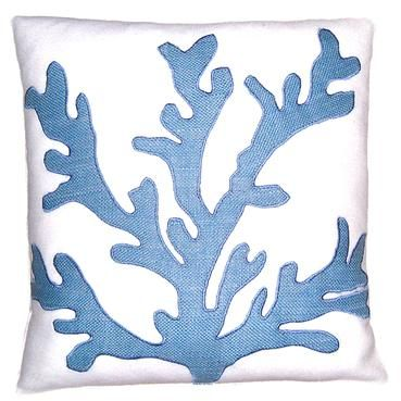 Wedgewood Jute Coral Pillow from Mecox.