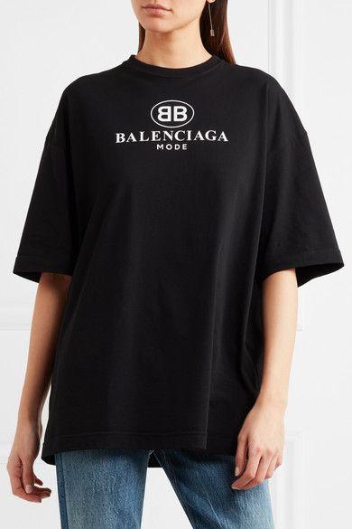 9383f40d6447 Balenciaga | Oversized printed cotton-jersey T-shirt | NET-A-PORTER.COM