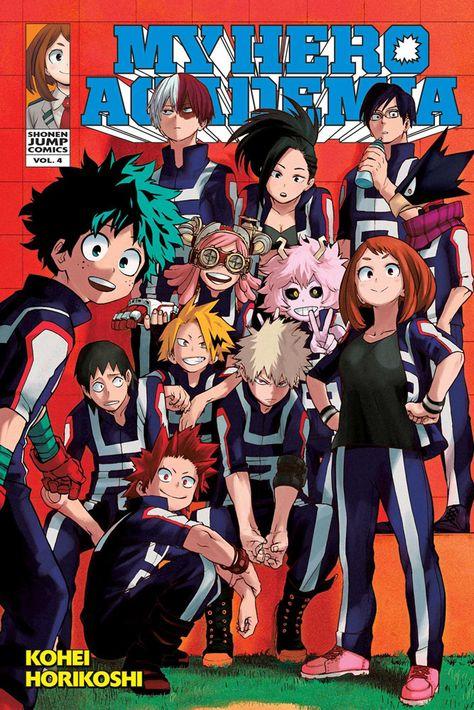 My Hero Academia, Vol. 4 (My Hero Academia, My Hero Academia Volumes, My Hero Academia Manga, Boku No Hero Academia, Manga Books, Manga Art, Manga Anime, Anime Art, Comic Anime, Retro Poster