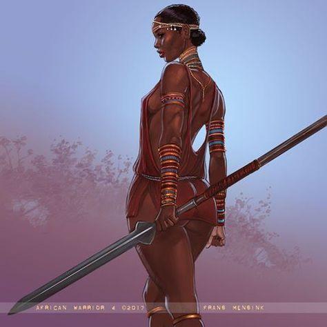 Warriors #warrior #blackwarrior #darkskin #warpaint #africa #africanbeauty #africanwarrior #artoffransmensink #pinupsofinstagram #pinup…