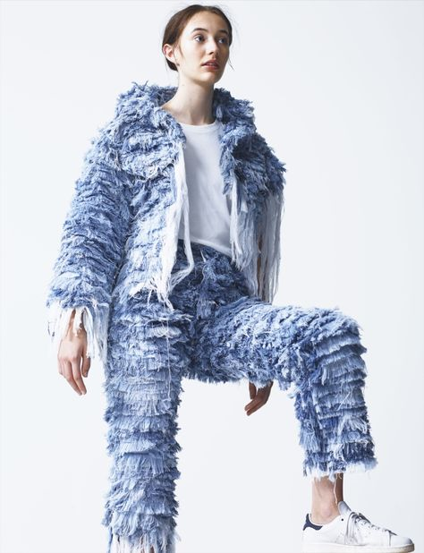 How cool is this Faustine Steinmetz ragged denim jeans and jacket? Definitely inspired to recreate this myself!