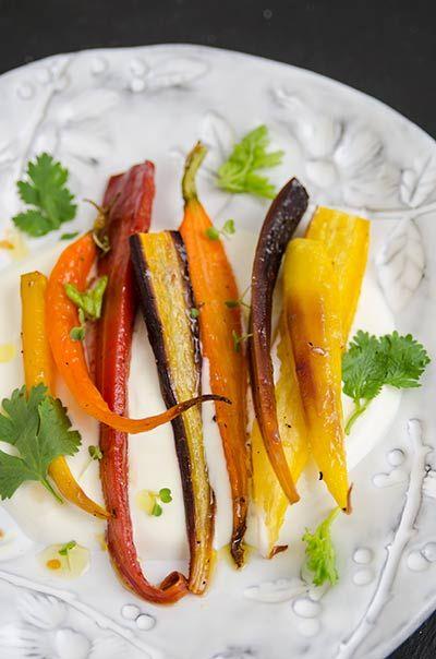 Rezept mit Bild für Geröstete Honig-Karotten mit Joghurt- foolforfood.de