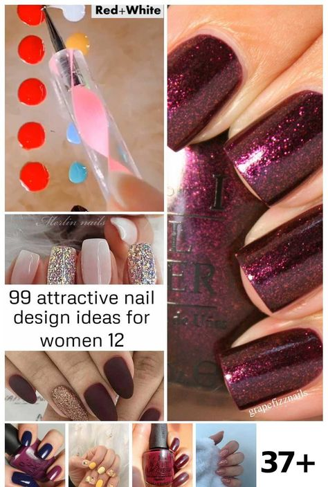 37 Maroon Nail Learn Ideas#ideas #learn #maroon #nail