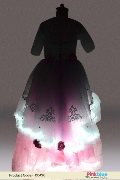 14628af8349 Cute Light Up Princess Dress - Toddler Girls Fairy Dress Costume - Designer  Baby LED Light Dress for Birthday Party - Kids Party Wear Dress - Indian  Wedding ...