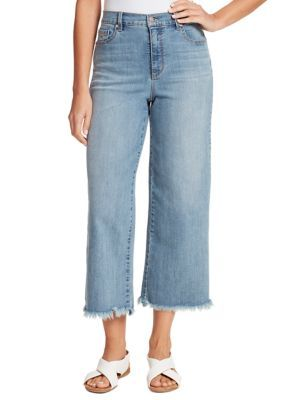 Gloria Vanderbilt Womens Amanda Wide Leg Crop Length Jean