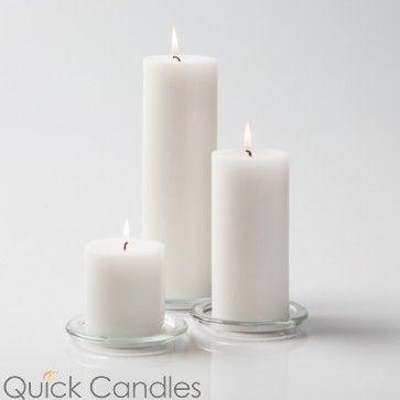 3 White Richland Floating Candles Set of 36
