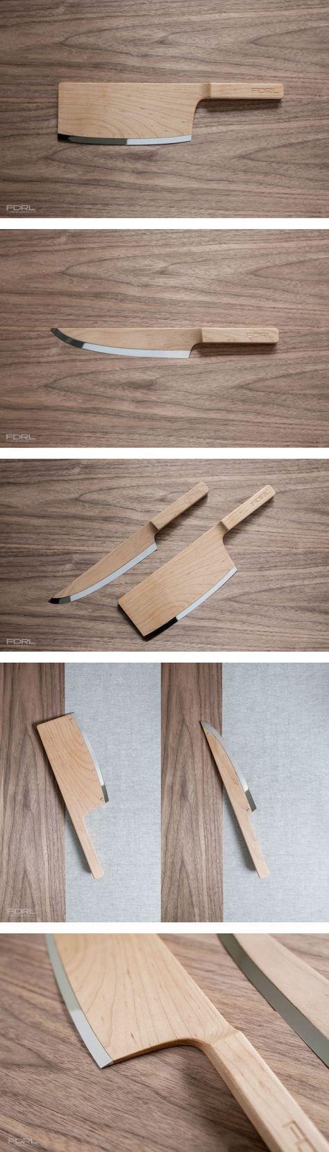 Cuchillos de diseño en madera