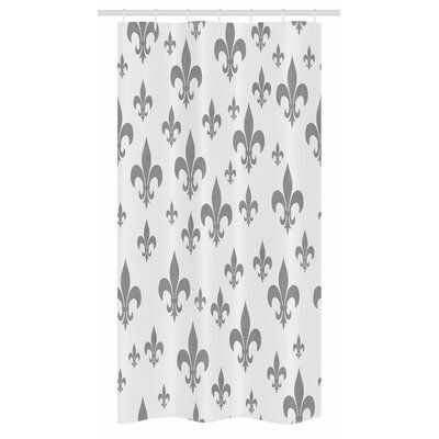 East Urban Home Fleur De Lis Stall Shower Curtain Single Hooks
