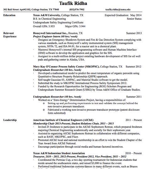 project engineer intern resume taufik ridha 302 ball street apt tamu resume template