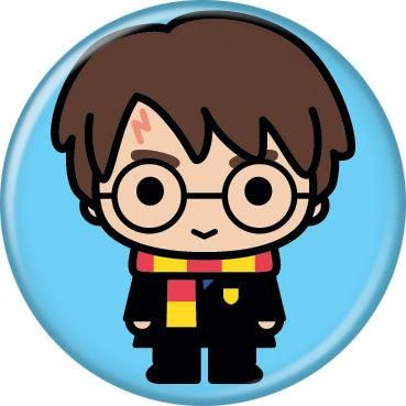 Harry Potter Animated Style Character Pin Button - Blue