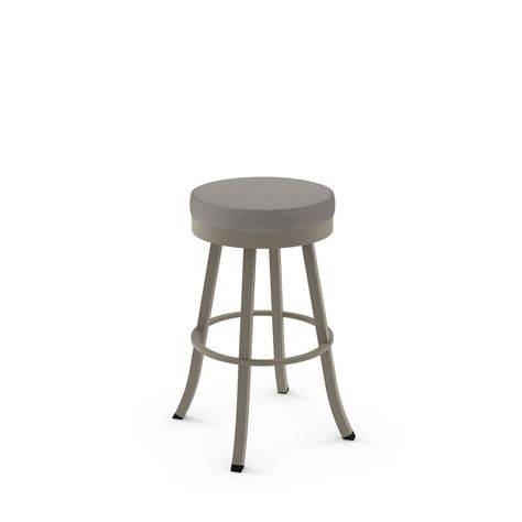 Amisco Logan 26 In Swivel Counter Stool Soft Pink Fabric In 2020