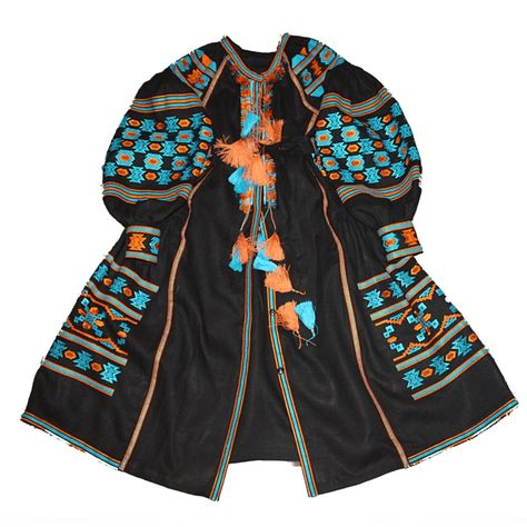 embrodiery Black Embroidered Dress Linen...