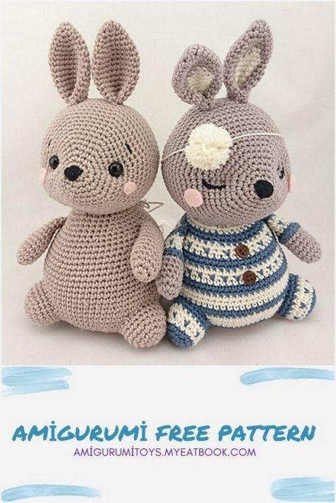 Amigurumi Henri, the rabbit Free Pattern - amigurumitoys.myeatbook.com