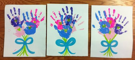 Painted Hand Bouquets