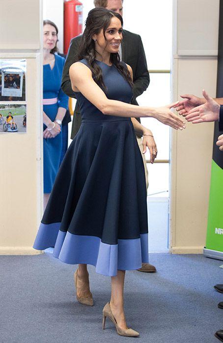 SYDNEY 10/2018 Macarthur Girls School - WMW: Roksanda 'Athena' dress: £1,850  . Stuart Weitzman nude Pumps: £360  . Maison Birks 18ct white gold flex wrap bracelet: £2,538  . Maison Birks topaz earrings: £498 .  OUTFIT TOTAL: £4,886