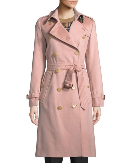 d8ca3bd814e Burberry Kensington Belted Cashmere Long Trench Coat in 2019 ...