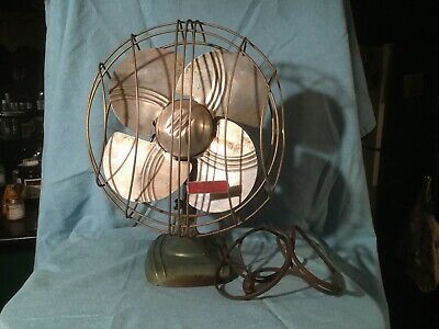 Ebay Ad Link Dominion 10 Oscillating Fan Great Deco Style Works Great Cast Base 2010 In 2020 Oscillating Fans Deco Electric Fan