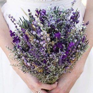 Lavenderwedding In 2020 Lavender Wedding Flowers Dried Flowers Wedding Lilac Wedding Bouquet