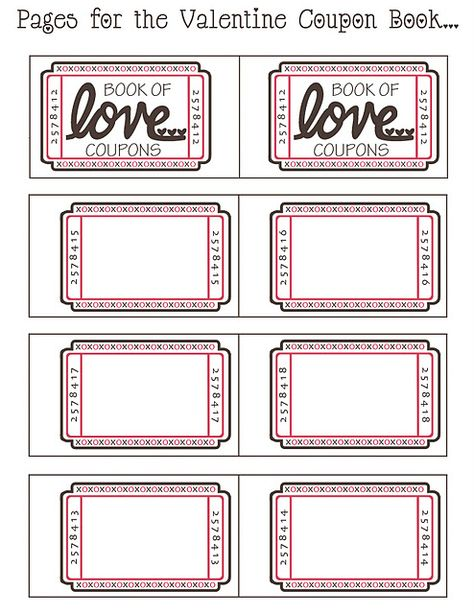 Imprimibles Regala Cupones Para San Valentn  Ideas San Valentin