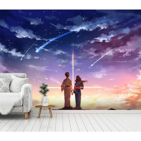 3D Wallpaper Your Name 365 Anime Wall Murals Wallpaper Mural Wall Mural Wall Murals Removable Wallpaper