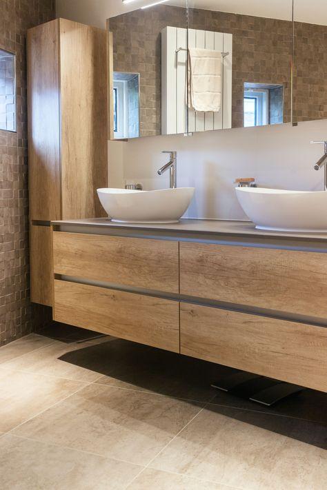 Wonderbaar Badkamermeubel, 2 wasbakken. (met afbeeldingen) | Badkamer OB-28
