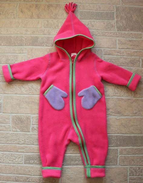 c08b45978dfa Hanna Andersson Girls 80 US 2 Pink Fleece Bunting Zip Up Snowsuit ...