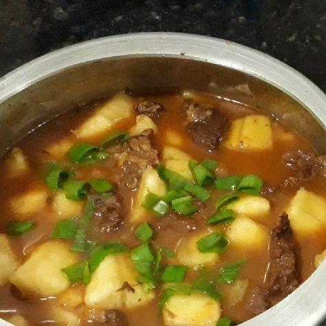 Carne Cozida Na Panela De Pressao Com Aipim Receita Com Imagens
