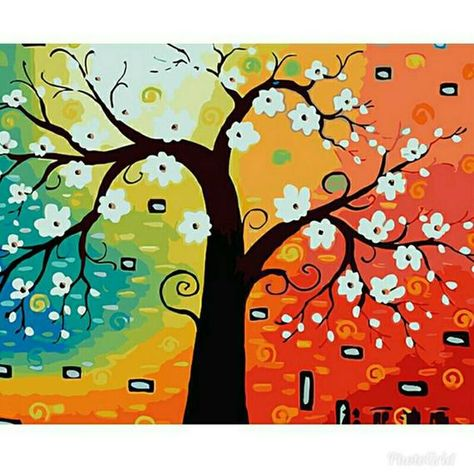 Number Tree Wood Painting Kits