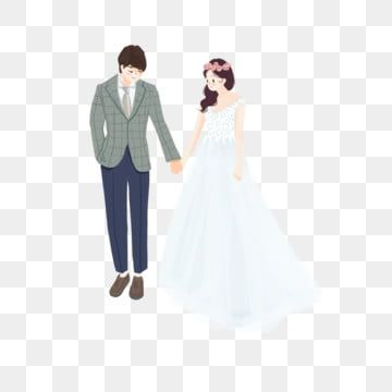 Cartoon Couple Holding Hands Wearing Wedding Gowns Hand In Hand Wearing A Wedding Dress Marry Png Transparent Clipart Image And Psd File For Free Download Couple Cartoon Couple Illustration Couple Cartoon