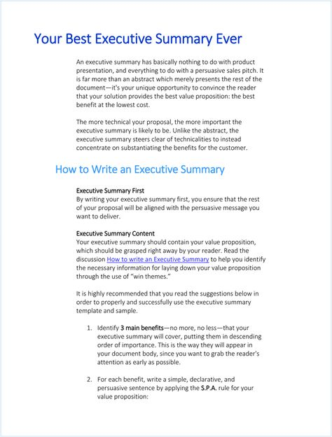 Adnetwork 20 Executive Summary Infographic Executive Summaries - examples of executive summaries