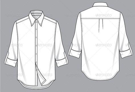 Mens Shirt Template - Dress World for Men