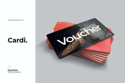 Cardi Voucher Mockup by celciusdesigns on Envato Elements