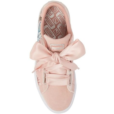 Women's Puma Basket Heart Hyper Embroidered Sneaker ($90
