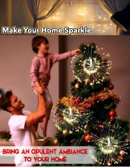 Have a charismatic atmosphere to your home this Christmas with this Remote Control Fireworks LED Light! 8 modes and waterproof
