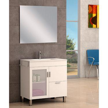 Conjunto De Mueble De Baño Atlanta 80 Blanco Leroy Merlin Muebles De Baño Muebles Muebles Bajo Lavabo