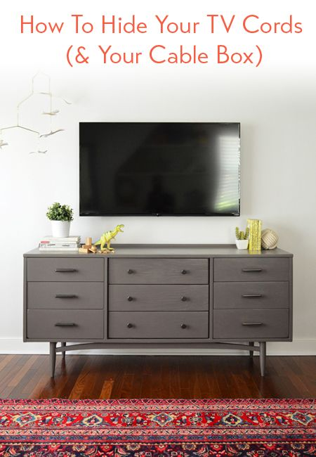 & How To Hide TV Wires For A Cord-Free Wall | Cable box Cable and Cord Aboutintivar.Com