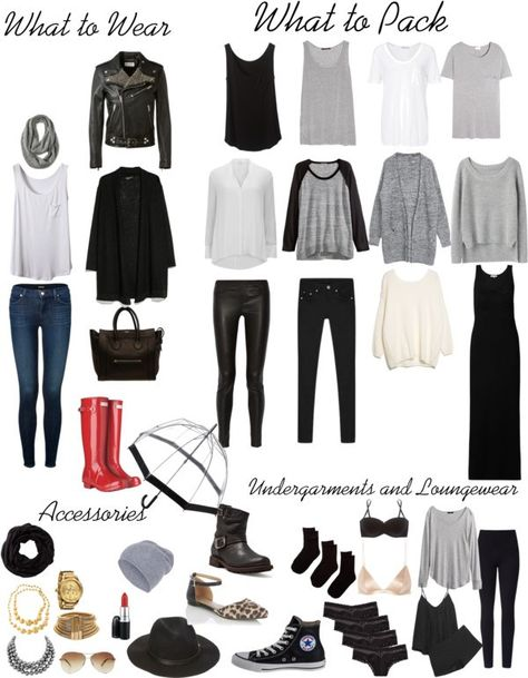 Packing list for Dublin. Packing light. Packing in a carry-on. Travel. #travellight #packinglight
