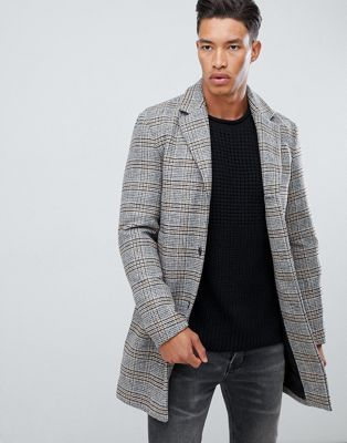 Jack Jones Originals Check Overcoat Jack Jones Fashion Mens Fashion Cat