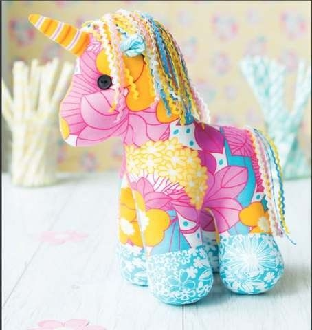 Yumi the Unicorn Toy Sewing Pattern Download.                                  Not free, but sooo cute