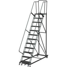Ladders Rolling Steel Ladders 12 Step Extra Heavy Duty Steel Rolling Safety Ladder Perforated Tread B190106 Globa Rolling Ladder Safety Ladder Ladder
