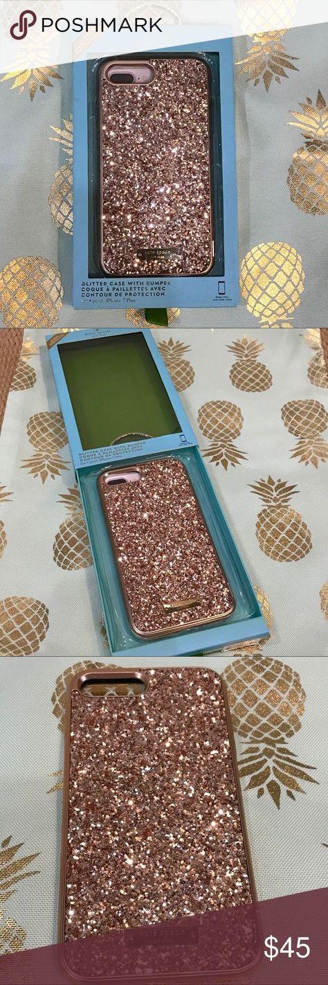 Kate Spade Rose Gold Glitzer Iphone 7 Plus Hulle Neu Mit Box Iphone 7 Plus My Posh Picks Iphone 7 Plus Iphone 7 Plus Hulle