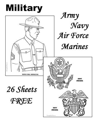 Military Coloring Pages Army Navy Air Force Marines Military Crafts Military Scrapbook Military Color