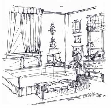 Interior Design Sketches sketchbook | michael hampton design | interior design sketches