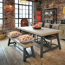 Hulstone Industrial Dining Table In 2020 Extendable Dining Table Industrial Dining Dining Table