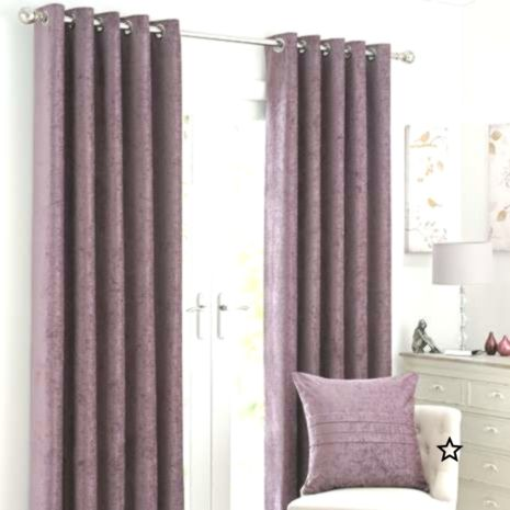 Chenille Mauve Eyelet Curtains Curtains Purple Curtains Home Decor
