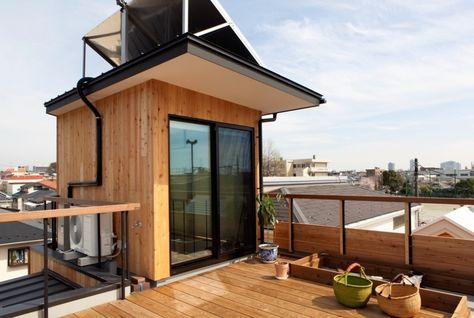 屋上テラスのある家5選 開放的にプライベートを楽しむ空間 House Tokyo Building A House Architecture