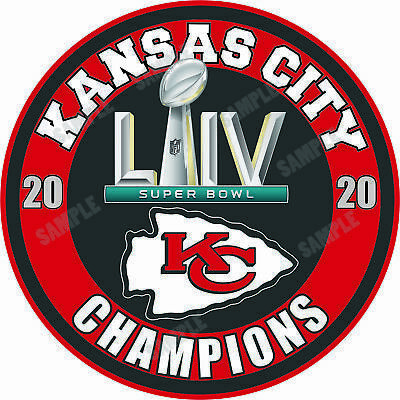 Details About Kansas City Chiefs Super Bowl Liv 54 Champions Decal Sticker In 2020 With Images Kansas City Chiefs Kansas City Chiefs Logo Chiefs Super Bowl