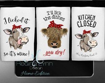 Cow Farm Decor Housewarming Farmhouse Farm Kitchen Upcycledp Etsy In 2021 Cow Decor Cow Kitchen Cow Kitchen Decor