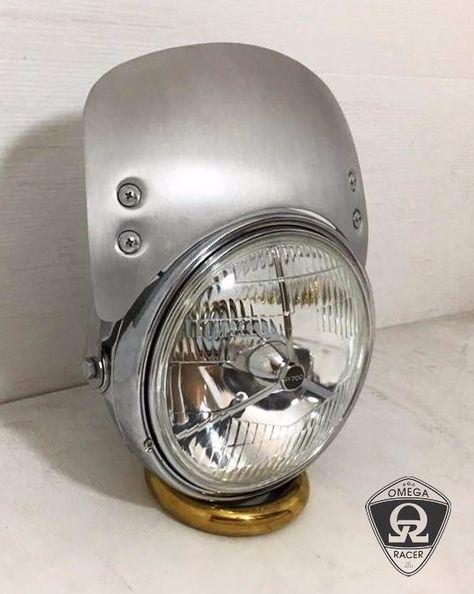 Omega Racer | Universal Headlight Shield | Cafe Racer Headlight Fairing