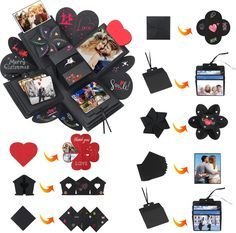 DIAOPROTECT Explosions Box, Kreative Überraschung Geschenk Box DIY Kreatives Faltendes Fotoalbum, DIY Geschenk, Geburtstag Geschenk, Jahrestag Geschenk, Valentine Geschenk | SAVINARTE
